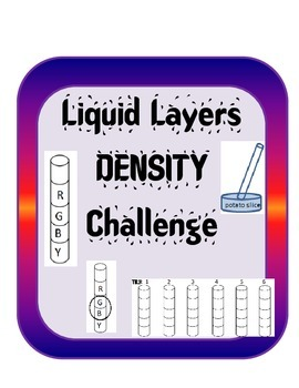Density Inquiry Activity Experiment -Liquid Layers Challenge w/ simple materials