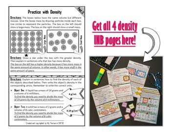 Density Interactive Notebook Page FREEBIE