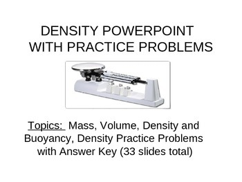 Density Interactive PowerPoint and Practice Problems (Bundled)