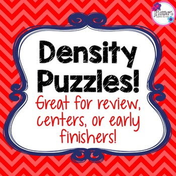 Density Puzzles! Great for Review!