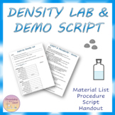 Density Lab - Procedure, Script, and Key Included
