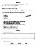 Density Lab Work Sheet