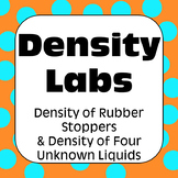 Density Inquiry Labs and Density Math Problem Sets with Answers & Solutions
