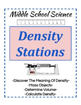 Density Learning Stations- Middle School Science