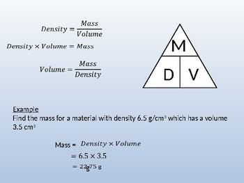 Density Mass Volume