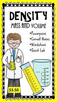 Density - Mass and Volume - AVID Cornell Notes