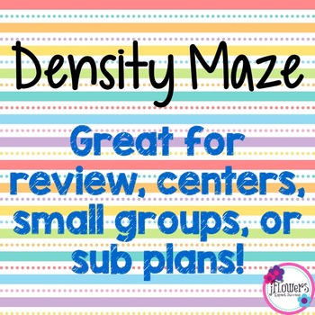 Density Maze! Great for Review!
