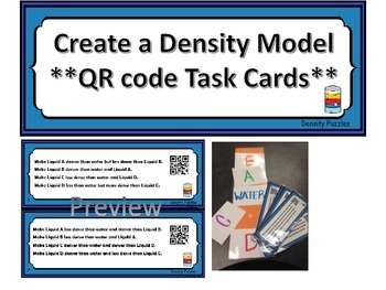 Task Cards: Density Model Maker   *upper elementary*