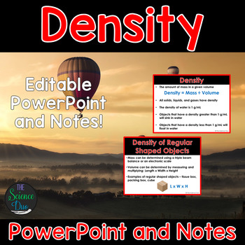 Density - PowerPoint and Notes
