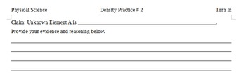 Density Practice # 2
