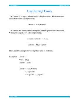 Density: Practice Problems