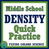Density Worksheet Practice Problems or Homework (middle school) NGSS MS-PS1-7
