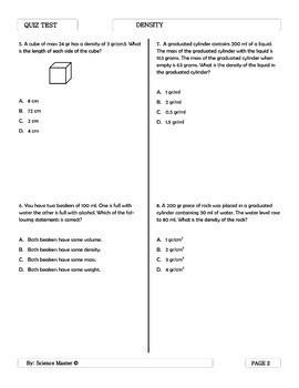 Density Quiz