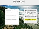 Density Quiz (Middle School)