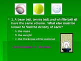 Density Review Powerpoint Quiz