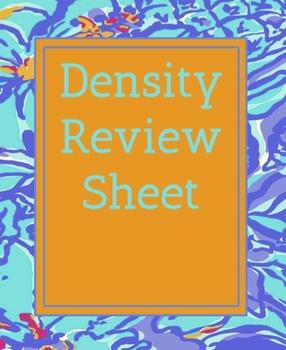 Density Review Sheet
