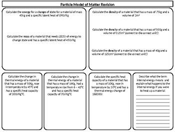 Density Revision/ Consolidation Worksheet
