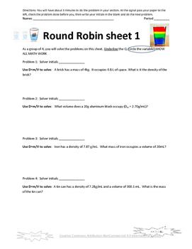 Density Round Robin Activity