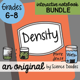 FREE! Density Interactive Notebook Science Doodle BUNDLE - Science Notes
