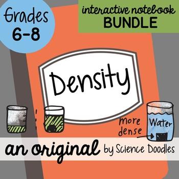 FREE! Density Science Doodles Interactive Notebook Bundle FREE!