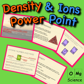 Density, Structure of Atoms, & Ions Power Point