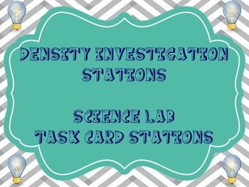 Density Task Cards - Investigation Stations