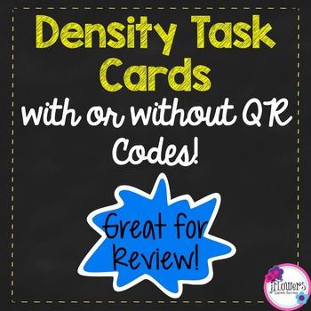 Density Task Cards wih or without QR Codes!