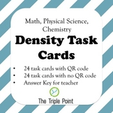 Chemistry: Density Task Cards with or without QR codes