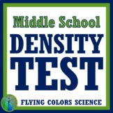 Density Test Assessment Middle School NGSS MS-PS1-7