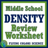 Density Worksheet Review Middle School