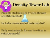 Density Tower Lab! Includes Before AND During/After Scientific Method Lab Sheets