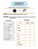 Density Tower Worksheet for Visual Learners