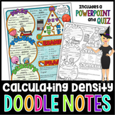 MASS, VOLUME, & DENSITY DOODLE NOTES, INTERACTIVE NOTEBOOK