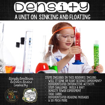 Density:  Will it Sink or Float? - STEM Challenge Included