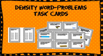 Density Word-Problems Task Cards