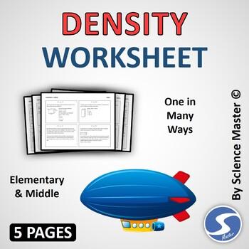 Density Worksheet One in Many Ways