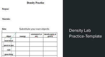 Density: a physical property of matter