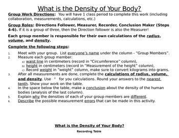 Density activity