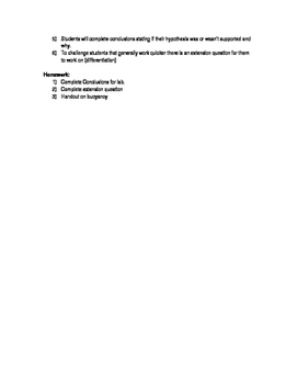 Density and Buoyancy Lesson Plan