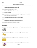 Density and Buoyancy Review Packet