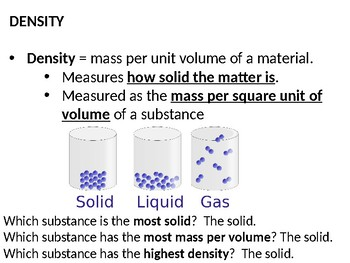 Density and Conductivity PowerPoint Lecture and Guided Notes (w/pics)