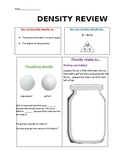 Density and convection review worksheet