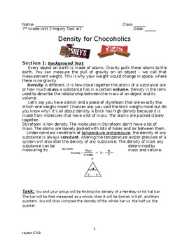 Density for Chocoholics