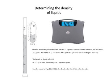 Density in the lab - procedures and calculations