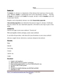 Density lab student's worksheet
