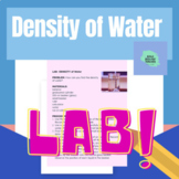 Density of Water- Lab Activity