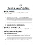 Density of Water Virtual Lab Handout