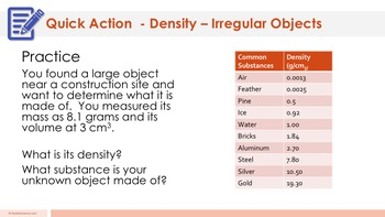 Density of an Irregular-Shaped Object Complete 5E Lesson Plan