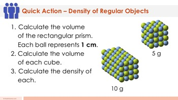 Density of a Regular-Shaped Object - Supplemental Lesson - No Lab