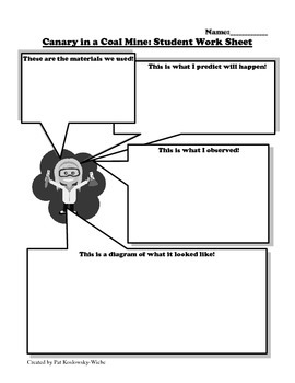 Density of gas lesson plan with student worksheet